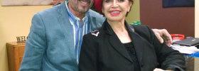 Gloria Brennan and Dr. Alonso