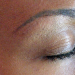 Permanent eyebrows camouflage