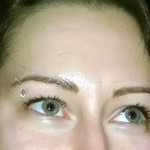 Permanent eyebrows-after