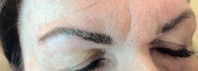 Asymmetrical eyebrows