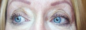 Permanent eyebrows and under eye concealer